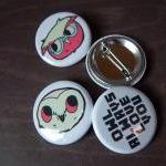 Backyard Owls 4 Button Pack..